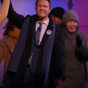 Mayor Paul Randolph Ginny & Georgia (2021) Scott Porter Black Mid-Length Coat