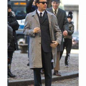Ewan McGregor Halston 2021 Checkered Coat