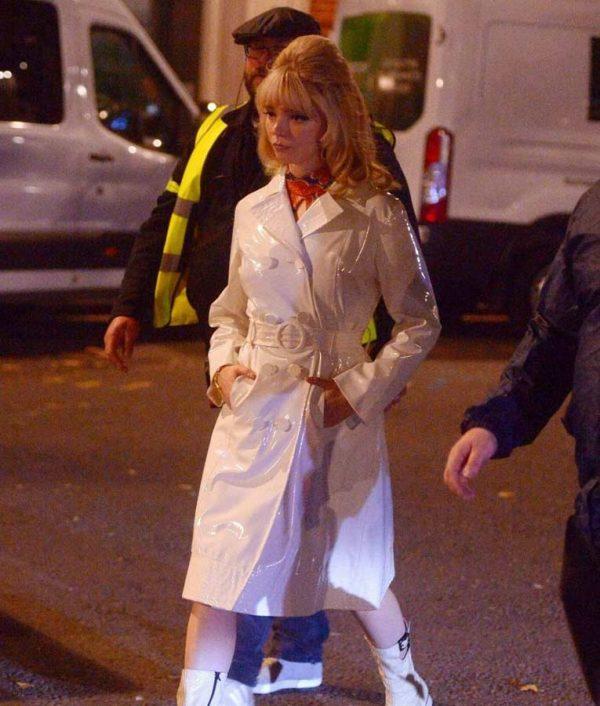 Last Night in Soho Anya Taylor White Leather Coat