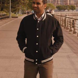 TV Series Master of None Aziz Ansari Black Bomber Jacket