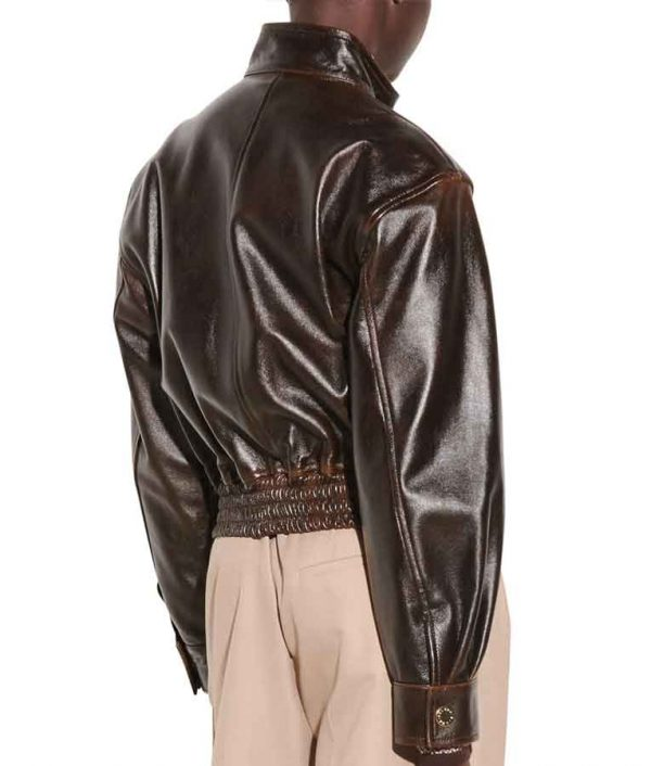 Kennedy McMann TV Series Nancy Drew S02 Brown Leather Jacket