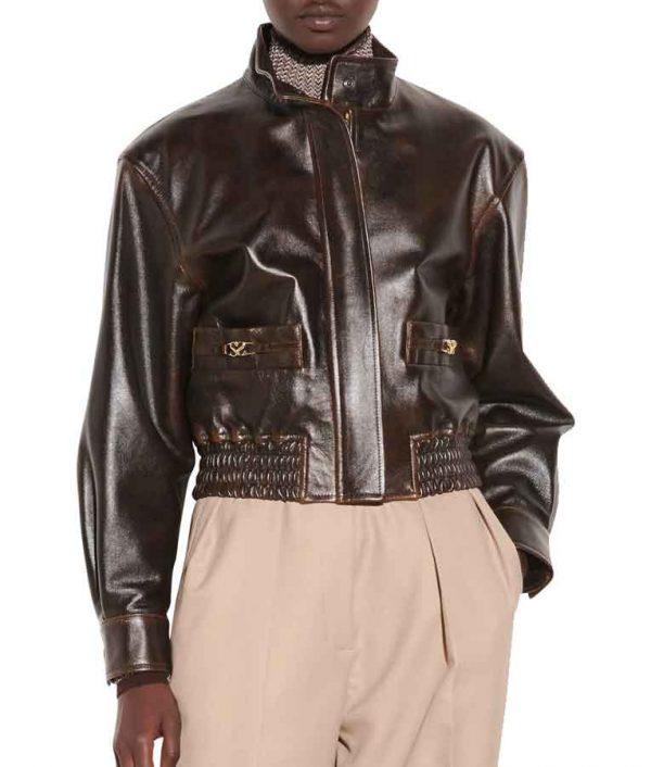 Nancy Drew Season 02 Leather Bomber Jacket