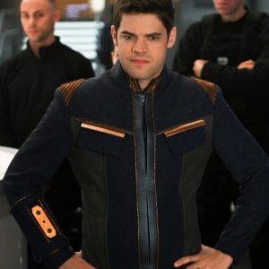 Jeremy Jordan TV Series Supergirl Season 05 Winn Schott Blue Jacket