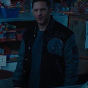 Eddie Brock Venom 2 Tom Hardy Detroit Lions Varsity Jacket