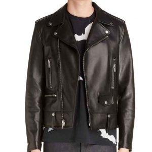 Nico Tortorella Younger S07 Josh Black Leather Moto Jacket
