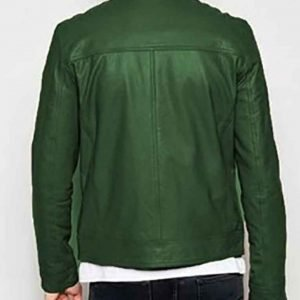 Henry Annette 2021 Green Leather Jacket