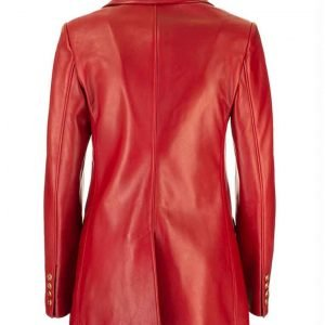 Elizabeth Gillies TV Series Dynasty S04 Red Leather Jacket