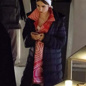 Emily Cooper Emily In Paris S02 Long Black Puffer Coat