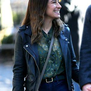 Lucy False Positive 2021 Ilana Glazer Black Leather Jacket