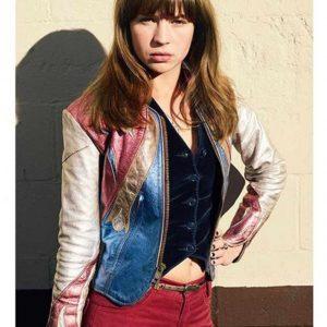 Britt Robertson Girlboss Sophia East West Leather Jacket