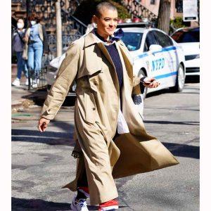 Jordan Alexander Gossip Girl 2021 Trench Cotton Coat
