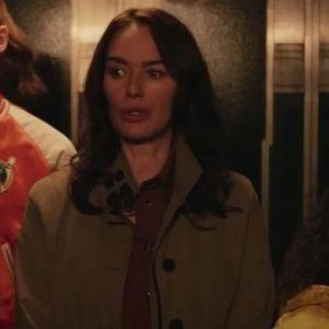 Scarlet Gunpowder Milkshake Lena Headey Coat