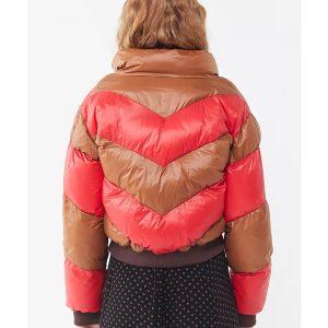 Izzy Lisko Home Before Dark SO2 Brown and Red Puffer Jacket