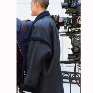 Julien Calloway Gossip Girl 2021 Black Shearling Coat