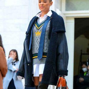 Jordan Alexander Gossip Girl 2021 Shearling Coat