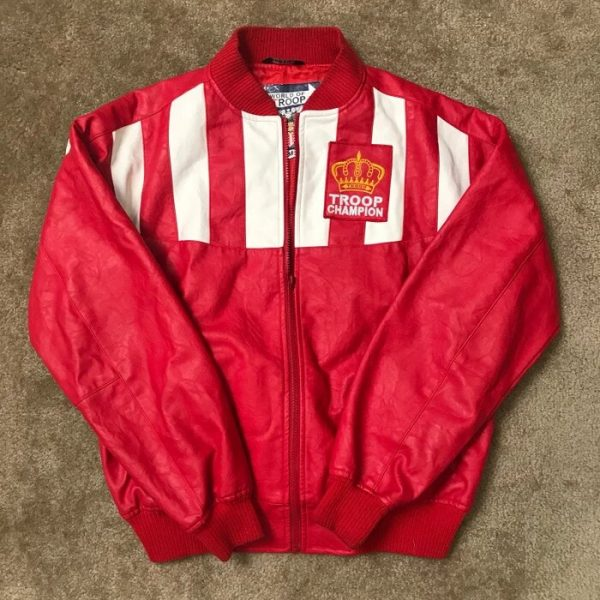 Troop Champion Red Bomber LL Cool J Jacket