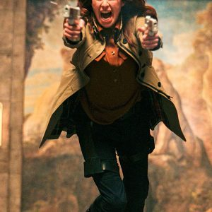 Gunpowder Milkshake Lena Headey Coat