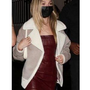 Maddie Ziegler Catch LA Fur Jacket
