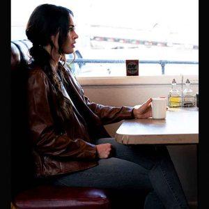 Rebecca Lombardi Midnight in the Switchgrass Megan Fox Leather Jacket