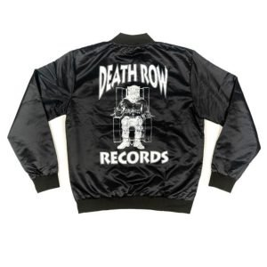 Men's Death Row Records Black Satin Varsity Jacket