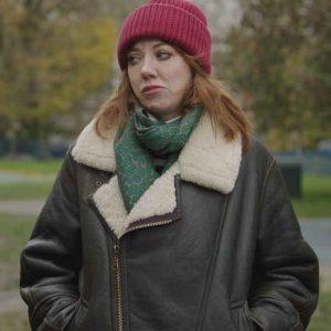 Liz Motherland S03 Diane Morgan Shearling Leather Jacket