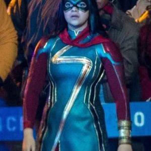 Iman Vellani Ms. Marvel 2021 Costume Leather Jacket