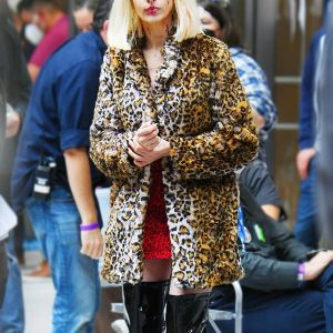 Rebekah Neumann TV Series WeCrashed Leopard Print Coat
