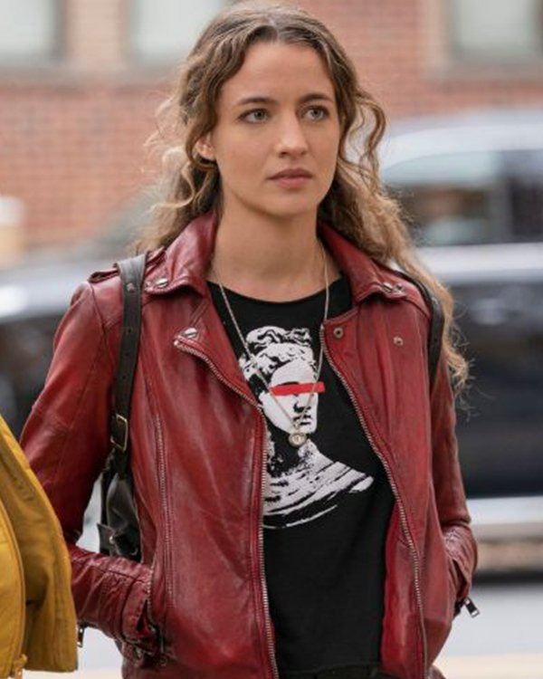 Stella Baker The Republic of Sarah Red Leather Jacket