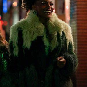 Sasha Snow TV Series Sex/Life 2021 Faux Fur Coat