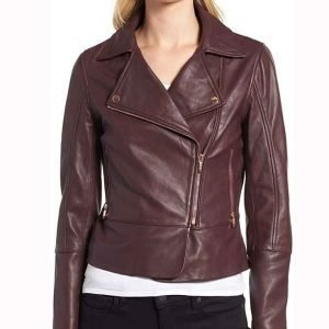 Stacey Farber Superman and Lois Purple Leather Jacket