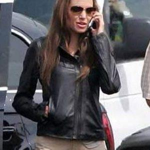 Eternals Thena Angelina Jolie Leather Jacket