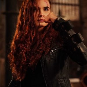 Anna Maiche Wicked (The Wicked Trilogy) Ivy Black Leather Jacket