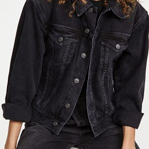 Alexandra Breckenridge TV Series Virgin River S03 Black Denim Jacket