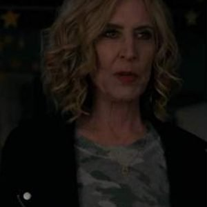 Evil Season 2 Sheryl Luria Black Suede Biker Jacket