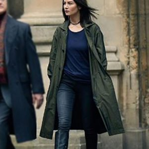 Malin Buska TV Series A Discovery Of Witches Green Cotton Coat