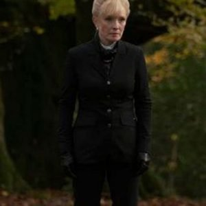 Lindsay Duncan TV Series A Discovery Of Witches Black Coat