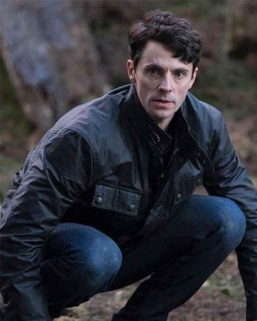 Matthew Goode TV Series A Discovery of Witches Black Leather Jacket