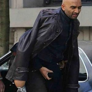 Usman Ally TV Series A Series of Unfortunate Events Black Leather Coat