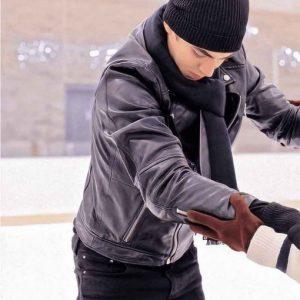 Hero Fiennes Tiffin After We Collided Biker Leather Jacket