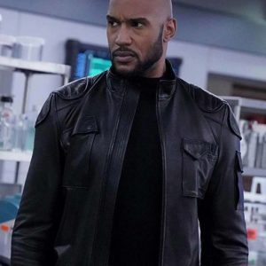 Henry Simmons Black Leather Agents of Shield Jacket
