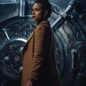 Army of Thieves 2021 Nathalie Emmanuel Brown Trench Coat
