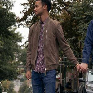 Ben TV Series Modern Love S02 Bomber Suede Leather Jacket