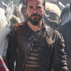 Engin Altan Düzyatan TV Series Dirilis Ertugrul Bey Leather Vest