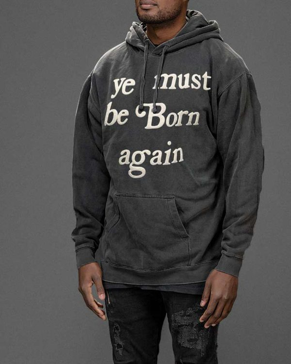 Drake Ye Must Be Born Again Grey Hoodie