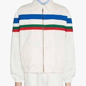Jack-Harlow-Tyler-Herro-Striped-Cotton-White-Striped-Jacket