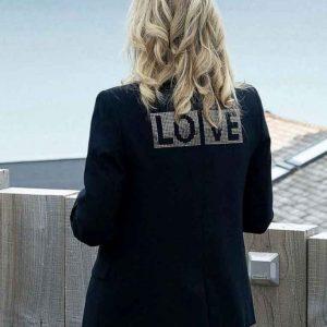 First Lady Jill Biden Love Black Jacket