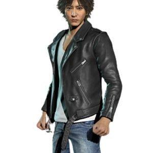 Judgment's Takayuki Yagami Black Leather Jacket Get 40% OFF