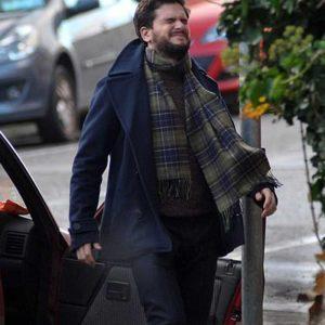 Blue Wool Kit Harington TV Series Modern Love S02 Peacoat