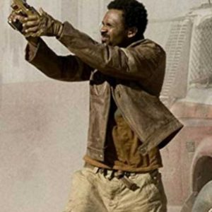 Mike Epps Resident Evil Extinction Brown Leather Jacket