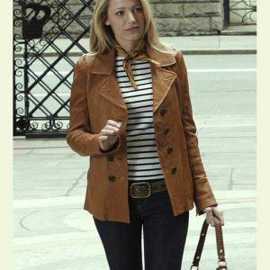 Gossip Girl Serena Van Woodsen Leather Jacket